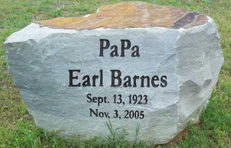BARNES, EARL - Logan County, Arkansas | EARL BARNES - Arkansas Gravestone Photos