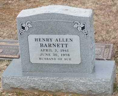 BARNETT, HENRY ALLEN - Logan County, Arkansas   HENRY ALLEN BARNETT - Arkansas Gravestone Photos