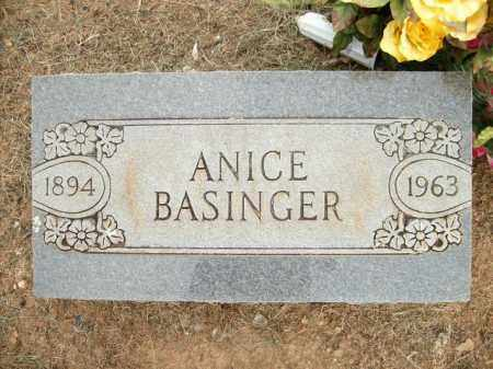 BASINGER, ANICE - Logan County, Arkansas | ANICE BASINGER - Arkansas Gravestone Photos