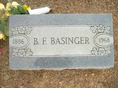 BASINGER, B.F. - Logan County, Arkansas | B.F. BASINGER - Arkansas Gravestone Photos