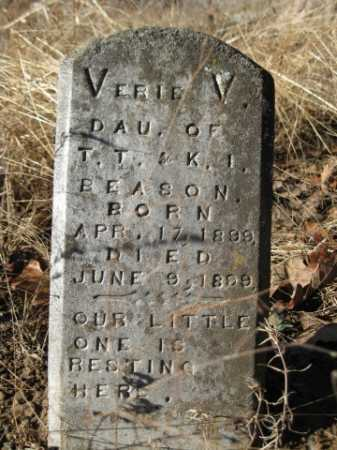 BEASON, VERIE V - Logan County, Arkansas | VERIE V BEASON - Arkansas Gravestone Photos