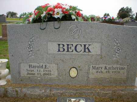 BECK  (VETERAN WWII), HAROLD E - Logan County, Arkansas | HAROLD E BECK  (VETERAN WWII) - Arkansas Gravestone Photos
