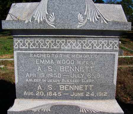 WOOD BENNETT, EMMA - Logan County, Arkansas | EMMA WOOD BENNETT - Arkansas Gravestone Photos