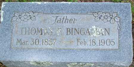 BINGAMAN, THOMAS F. - Logan County, Arkansas | THOMAS F. BINGAMAN - Arkansas Gravestone Photos