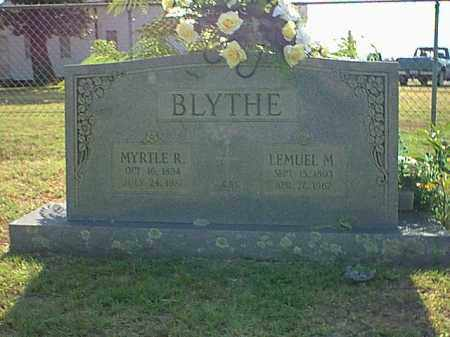 BLYTHE, MYRTLE R. - Logan County, Arkansas | MYRTLE R. BLYTHE - Arkansas Gravestone Photos