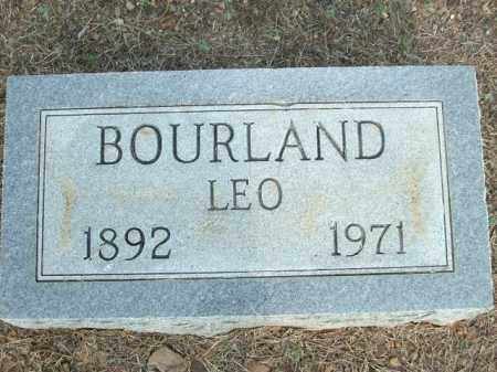 BOURLAND, LEO - Logan County, Arkansas | LEO BOURLAND - Arkansas Gravestone Photos