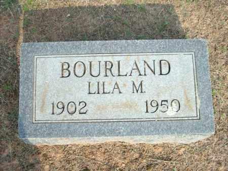 BOURLAND, LILA M. - Logan County, Arkansas | LILA M. BOURLAND - Arkansas Gravestone Photos