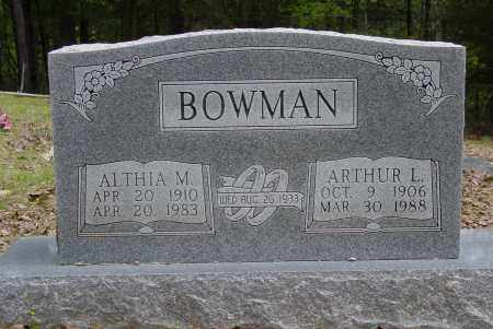 BOWMAN, ARTHUR LUTHER - Logan County, Arkansas | ARTHUR LUTHER BOWMAN - Arkansas Gravestone Photos
