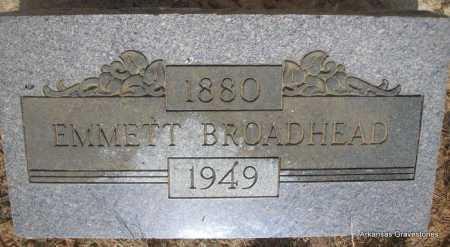 BROADHEAD, EMMETT - Logan County, Arkansas   EMMETT BROADHEAD - Arkansas Gravestone Photos