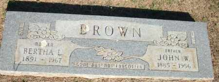 BROWN, JOHN W. - Logan County, Arkansas | JOHN W. BROWN - Arkansas Gravestone Photos