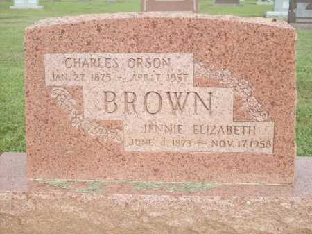 BROWN, CHARLES ORSON - Logan County, Arkansas | CHARLES ORSON BROWN - Arkansas Gravestone Photos