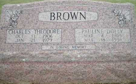 BROWN, CHARLES THEODORE - Logan County, Arkansas | CHARLES THEODORE BROWN - Arkansas Gravestone Photos