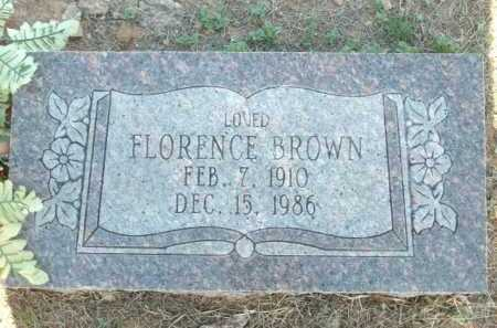BROWN, FLORENCE - Logan County, Arkansas | FLORENCE BROWN - Arkansas Gravestone Photos