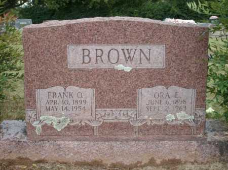BROWN, FRANK O. - Logan County, Arkansas | FRANK O. BROWN - Arkansas Gravestone Photos