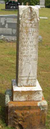 BROWN, LUTA - Logan County, Arkansas | LUTA BROWN - Arkansas Gravestone Photos