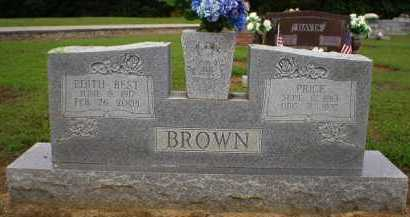 BROWN (VETERAN), PRICE - Logan County, Arkansas | PRICE BROWN (VETERAN) - Arkansas Gravestone Photos