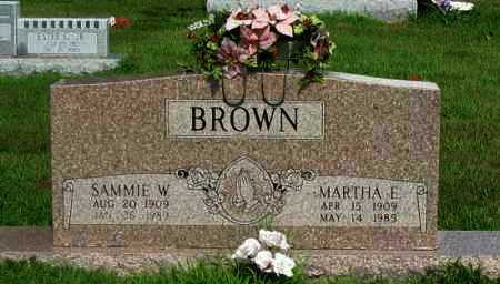 BROWN, MARTHA E - Logan County, Arkansas | MARTHA E BROWN - Arkansas Gravestone Photos