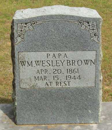 BROWN, WM. WESLEY - Logan County, Arkansas | WM. WESLEY BROWN - Arkansas Gravestone Photos
