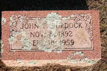 BURDOCK, JOHN F. - Logan County, Arkansas | JOHN F. BURDOCK - Arkansas Gravestone Photos