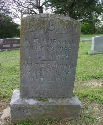 HORN BURNHAM, MATTIE BLANCHE - Logan County, Arkansas | MATTIE BLANCHE HORN BURNHAM - Arkansas Gravestone Photos