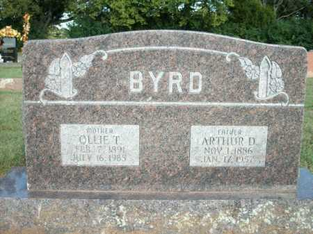 BYRD, OLLIE T. - Logan County, Arkansas | OLLIE T. BYRD - Arkansas Gravestone Photos