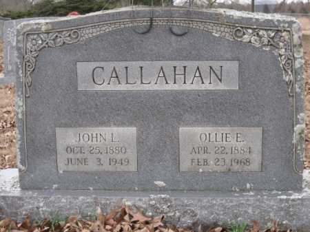 CALLAHAN, OLLIE E - Logan County, Arkansas | OLLIE E CALLAHAN - Arkansas Gravestone Photos