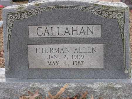 CALLAHAN, THURMAN ALLEN - Logan County, Arkansas | THURMAN ALLEN CALLAHAN - Arkansas Gravestone Photos