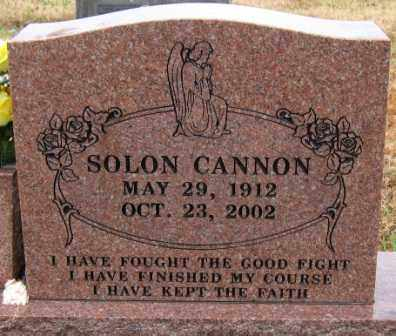 CANNON, SOLON - Logan County, Arkansas | SOLON CANNON - Arkansas Gravestone Photos