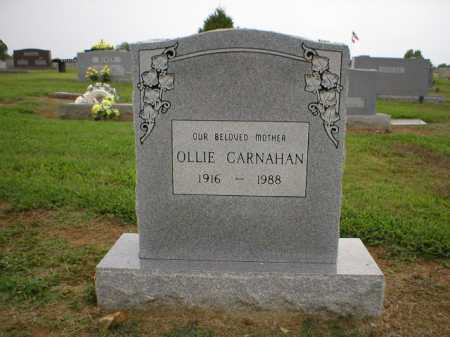 CARNAHAN, OLLIE - Logan County, Arkansas | OLLIE CARNAHAN - Arkansas Gravestone Photos