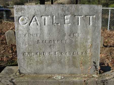 CATLETT, FANNY - Logan County, Arkansas | FANNY CATLETT - Arkansas Gravestone Photos