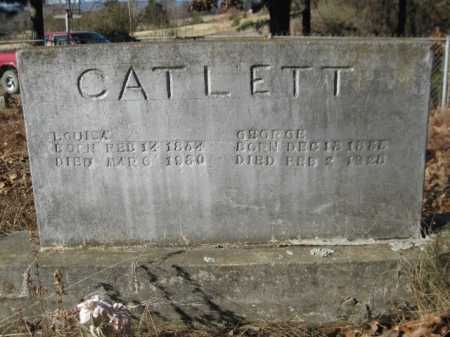 CATLETT, GEORGE - Logan County, Arkansas | GEORGE CATLETT - Arkansas Gravestone Photos