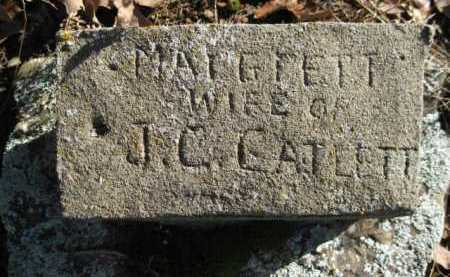 CATLETT, MARGRETT - Logan County, Arkansas | MARGRETT CATLETT - Arkansas Gravestone Photos