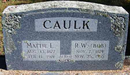 CAULK, MATTIE L - Logan County, Arkansas | MATTIE L CAULK - Arkansas Gravestone Photos