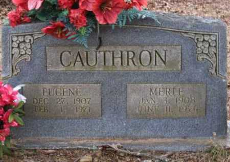 CAUTHRON, MERLE - Logan County, Arkansas | MERLE CAUTHRON - Arkansas Gravestone Photos