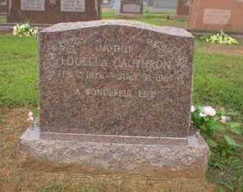 CAUTHRON, LOUELLA - Logan County, Arkansas | LOUELLA CAUTHRON - Arkansas Gravestone Photos