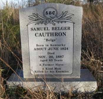 "CAUTHRON, SAMUEL BELGER ""BELGE"" - Logan County, Arkansas 