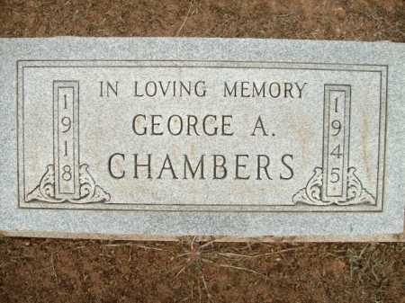 CHAMBERS, GEORGE A. - Logan County, Arkansas | GEORGE A. CHAMBERS - Arkansas Gravestone Photos