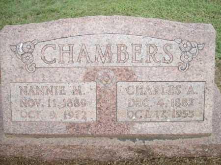 CHAMBERS, CHARLES A. - Logan County, Arkansas | CHARLES A. CHAMBERS - Arkansas Gravestone Photos
