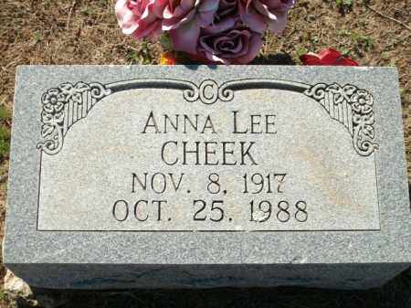 CHEEK, ANNA LEE - Logan County, Arkansas | ANNA LEE CHEEK - Arkansas Gravestone Photos