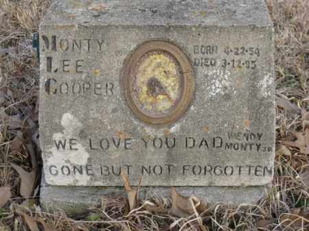COOPER, MONTY LEE - Logan County, Arkansas | MONTY LEE COOPER - Arkansas Gravestone Photos