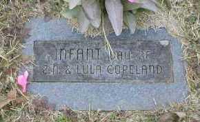 COPELAND, INFANT DAUGHTER - Logan County, Arkansas | INFANT DAUGHTER COPELAND - Arkansas Gravestone Photos