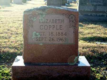 COPPLE, ELIZABETH - Logan County, Arkansas | ELIZABETH COPPLE - Arkansas Gravestone Photos