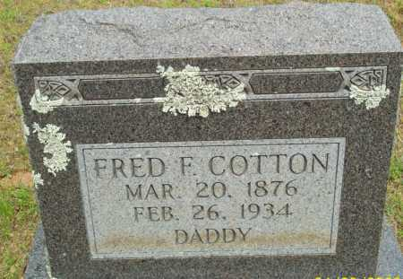 COTTON, FRED F. - Logan County, Arkansas | FRED F. COTTON - Arkansas Gravestone Photos