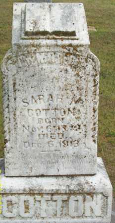COTTON, SARAH - Logan County, Arkansas | SARAH COTTON - Arkansas Gravestone Photos