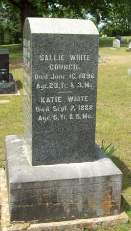 WHITE COUNCIL, SALLIE - Logan County, Arkansas | SALLIE WHITE COUNCIL - Arkansas Gravestone Photos