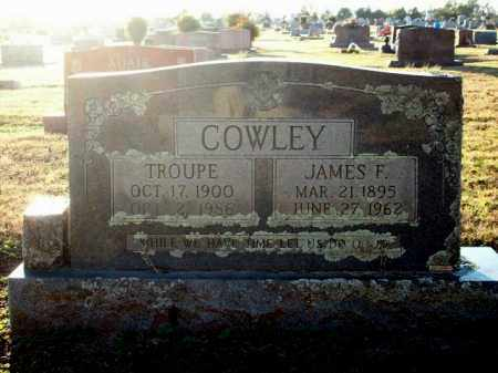 COWLEY, TROUPE - Logan County, Arkansas | TROUPE COWLEY - Arkansas Gravestone Photos