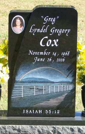 "COX, LYNDEL GREGORY ""GREG"" - Logan County, Arkansas 