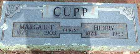 CUPP, MARGARET - Logan County, Arkansas | MARGARET CUPP - Arkansas Gravestone Photos