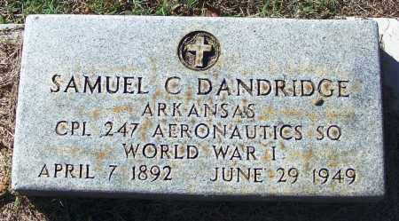 DANDRIDGE (VETERAN WWI), SAMUEL C - Logan County, Arkansas | SAMUEL C DANDRIDGE (VETERAN WWI) - Arkansas Gravestone Photos