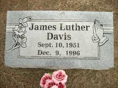 DAVIS, JAMES LUTHER - Logan County, Arkansas | JAMES LUTHER DAVIS - Arkansas Gravestone Photos